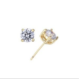 Swarovski Crystal Round-Cut Earrings